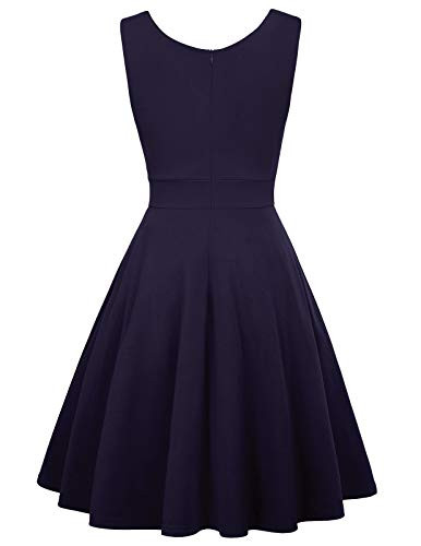 Solid Pinup Vintage Dresses for Juniors Teens Party Size M