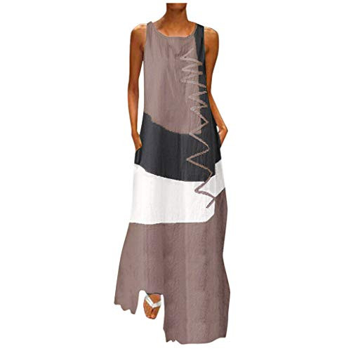 SSDXY Dress for Women Vintage Boho Patchwork Print Daily