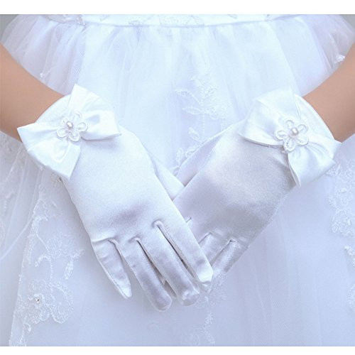 Tandi Girls Gorgeous Satin Fancy Gloves for Special Occasion