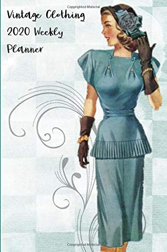 Vintage Clothing 2020 Weekly Planner Compact and Convenient