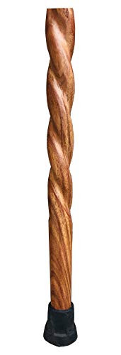 Walking Stick - Twisted Spiral Wooden Stick 8quot Long Handle