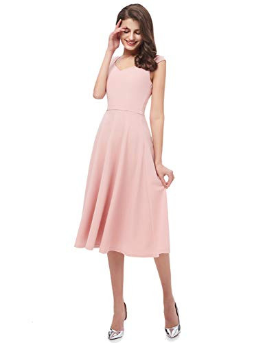 Women Casual Tea Dress Prom Party Dresses Cocktail Swing