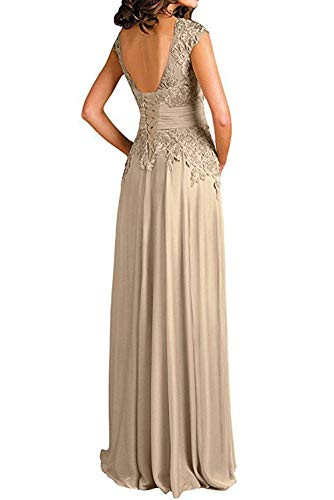 Womens Sexy Deep V-Neck Cap Sleeve lace Mother of The Bride