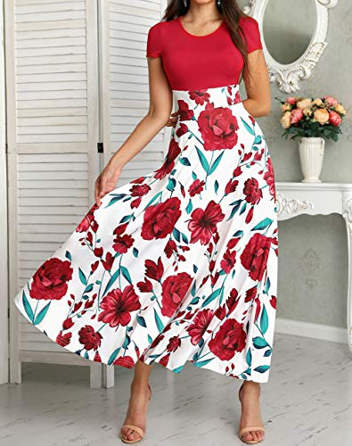 Womens Short Sleeveless Floral Printed Prom Cocktail Swing