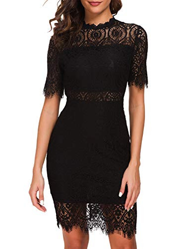 Zalalus Womens Lace Dresses for Cocktail Wedding Party