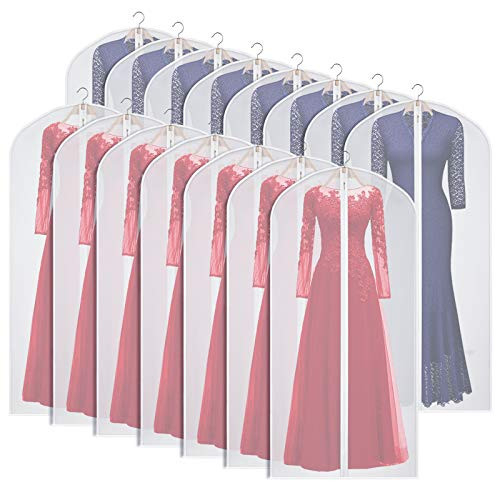 Zilink Clear Garment Bags for Long Dresses 60-inch