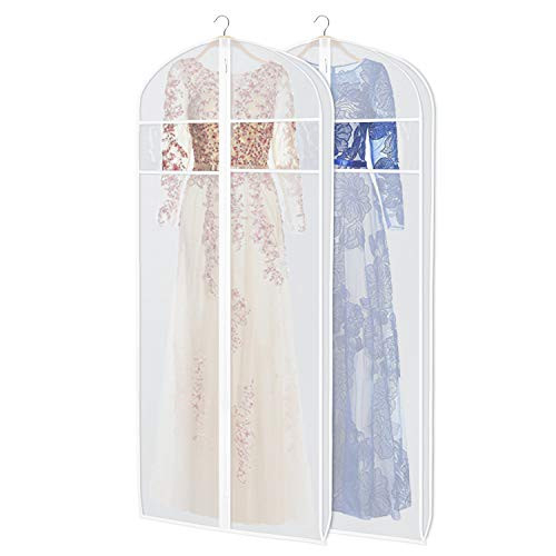 Zilink Dress Garment Bags for Storage 72-inch with Clear