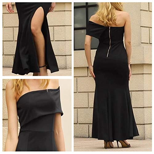 ZKESS Womens One Shoulder Vintage Maxi Party Formal Long